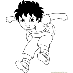 Diego Jumping coloring page
