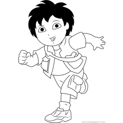 Diego Marquez Running Free Coloring Page for Kids