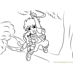 Diego Marquez on Tree coloring page