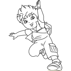 Happy Diego Marquez Free Coloring Page for Kids