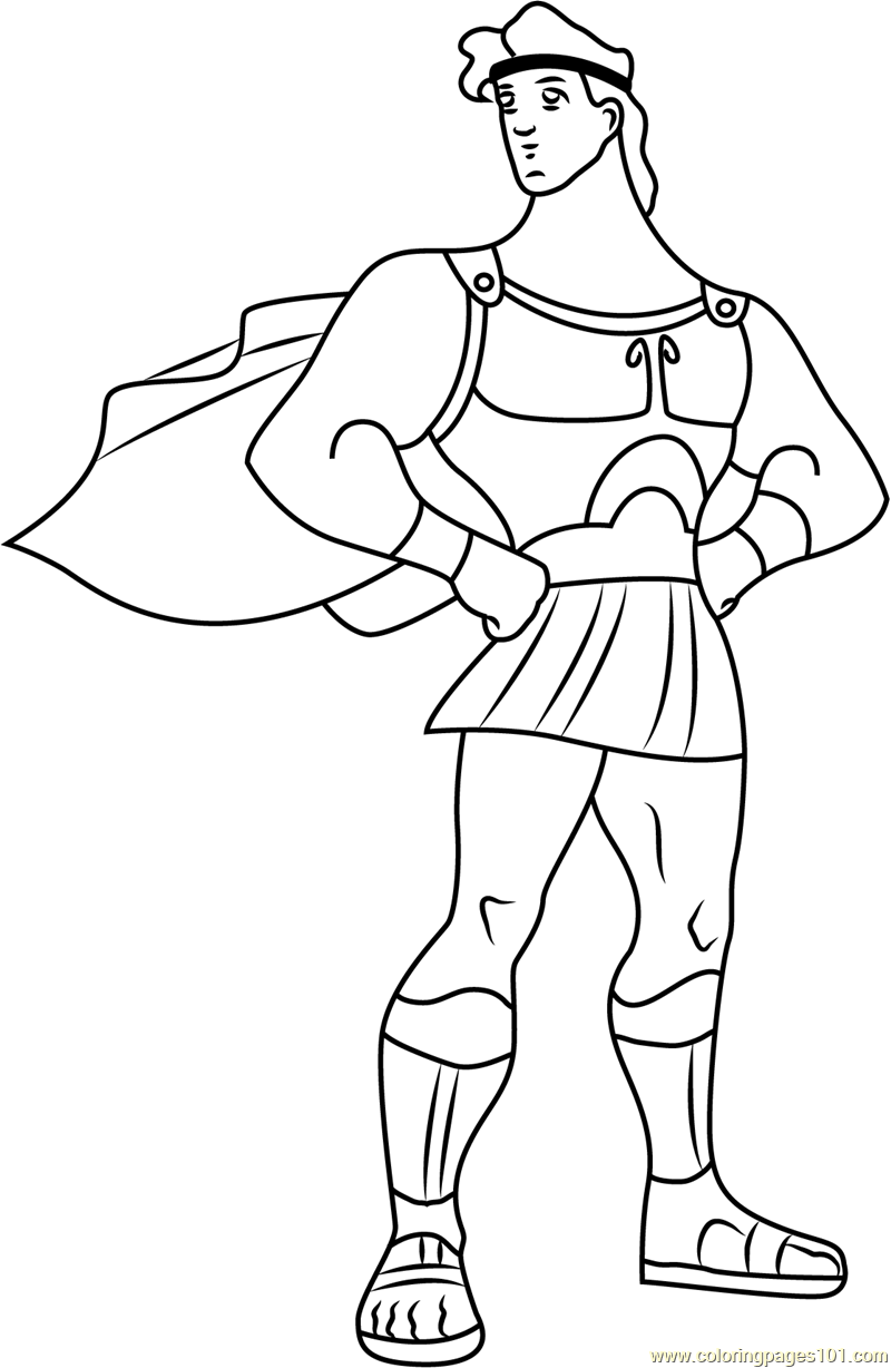 Hercules Coloring Page Free Hercules Coloring Pages