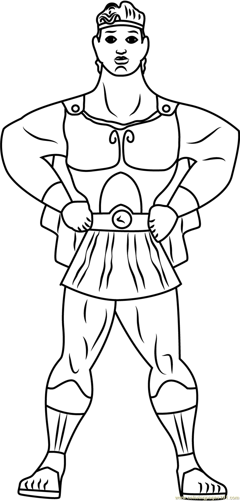 Hercules the Hero Coloring Page - Free Hercules Coloring Pages ...