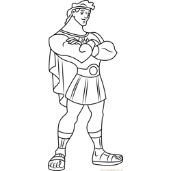 Standing Hercules coloring page