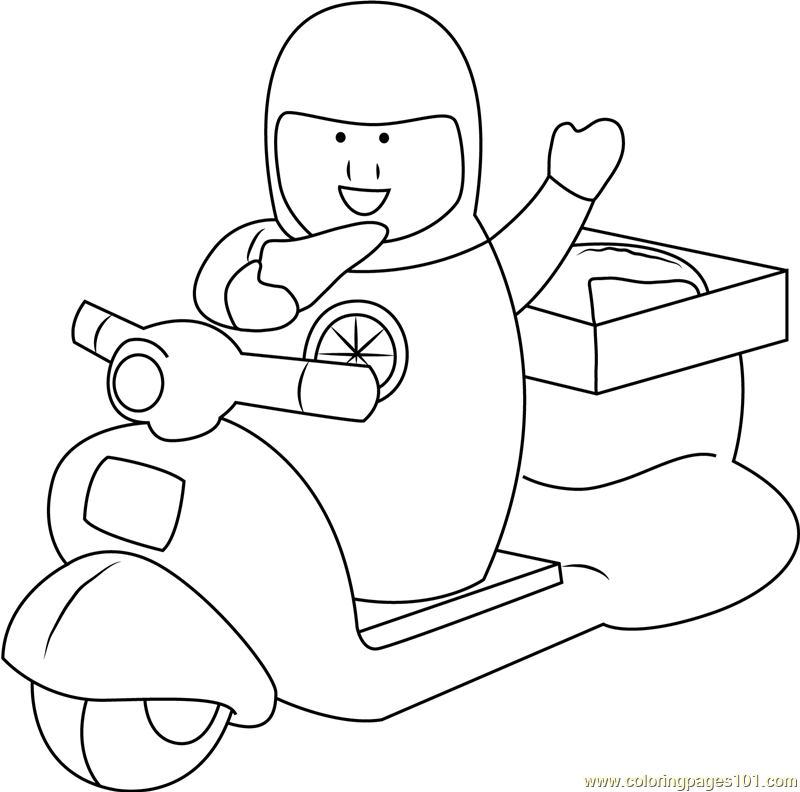 Pizza Delivery Coloring Page Free Higglytown Heroes Coloring Pages