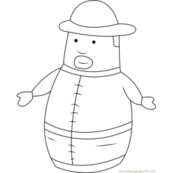 Cute Higglytown Heroes Free Coloring Page for Kids