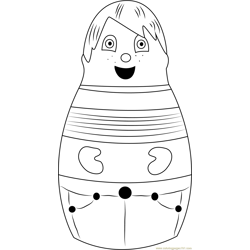 Eubie Free Coloring Page for Kids