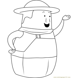 Higglytown Heroes Free Coloring Page for Kids