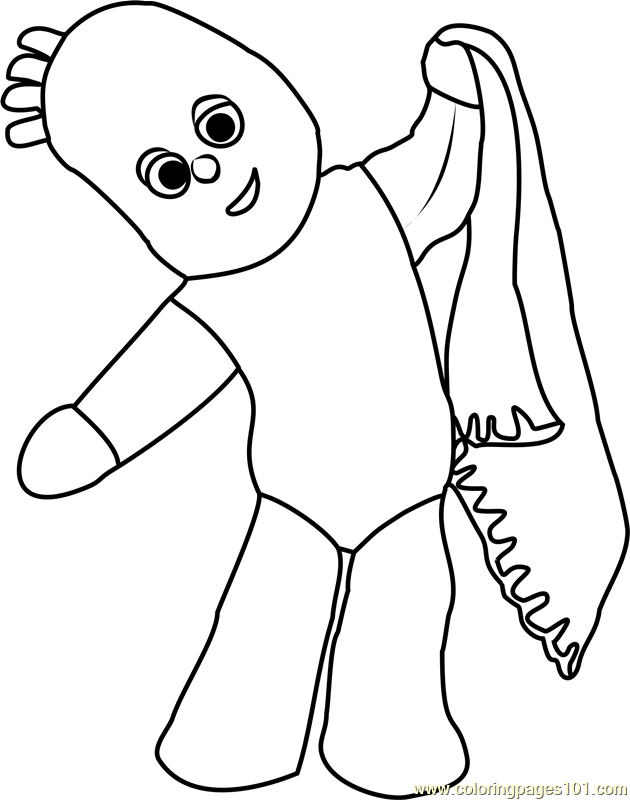 Igglepiggle Coloring Page Free In The Night Garden
