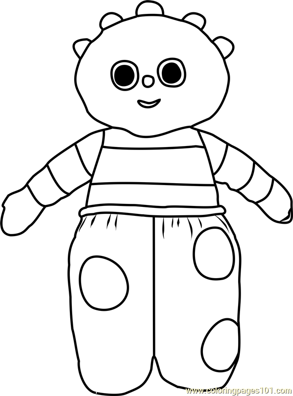 Ooo Coloring Page Free In The Night Garden Coloring