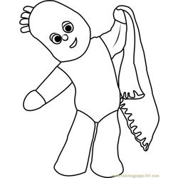 Igglepiggle Free Coloring Page for Kids