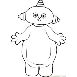 Makka Pakka Free Coloring Page for Kids