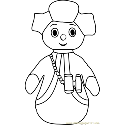 The Pontipines Free Coloring Page for Kids