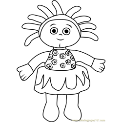 Upsy Daisy coloring page