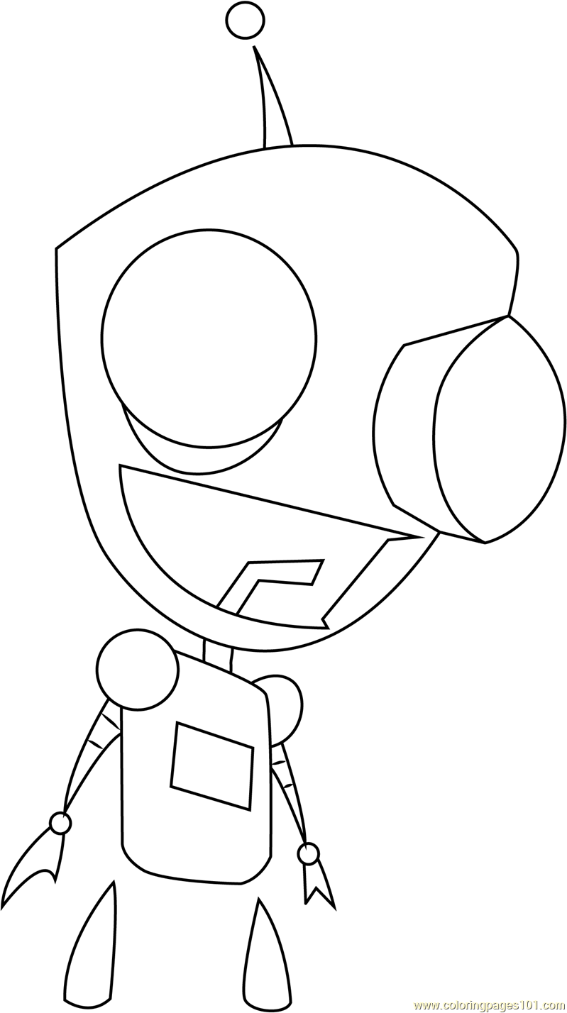 gir invader zim coloring pages - photo#20