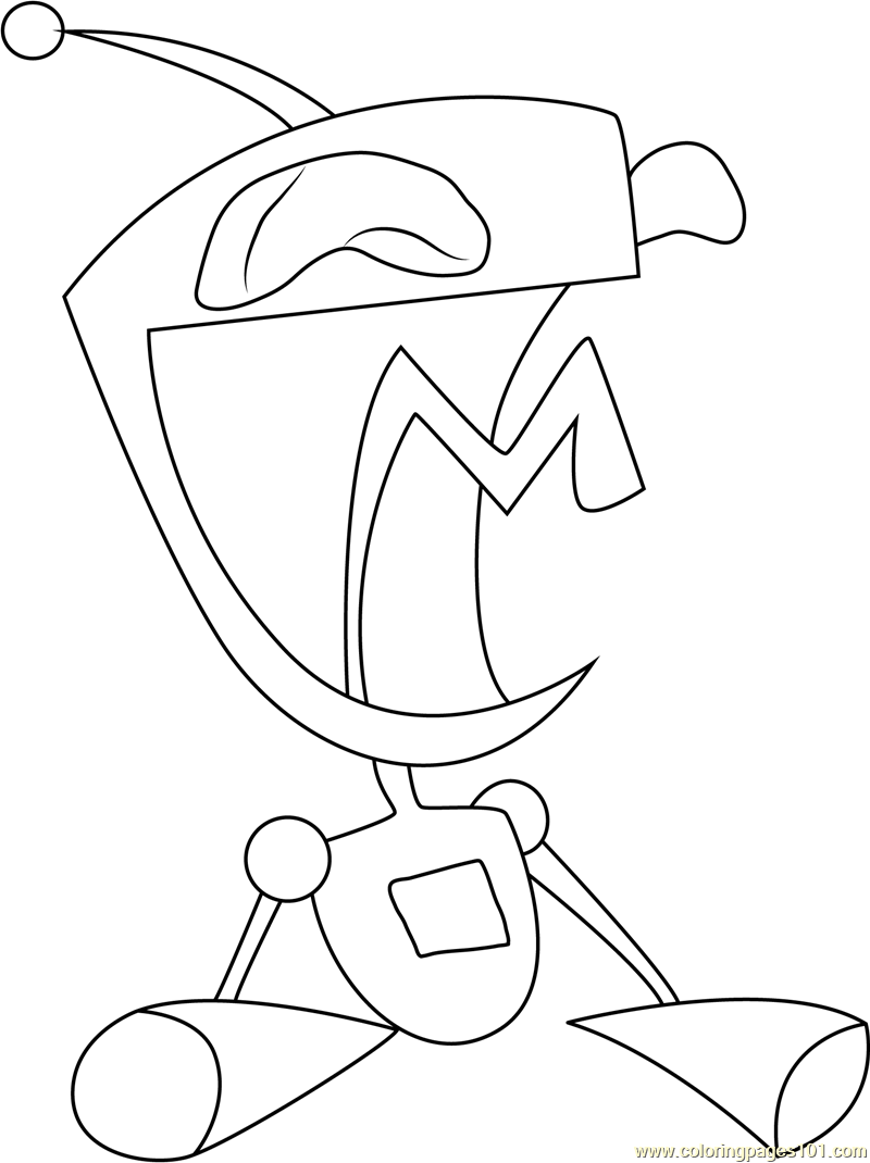 Gir Coloring Page - Free Invader Zim Coloring Pages ...
