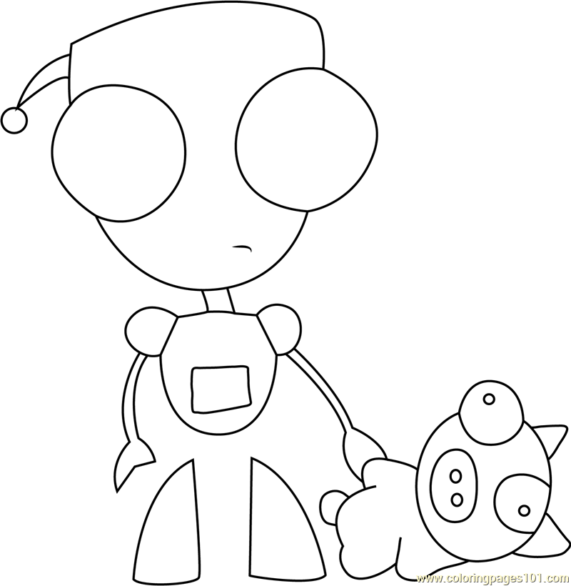 gir coloring book pages - photo#13