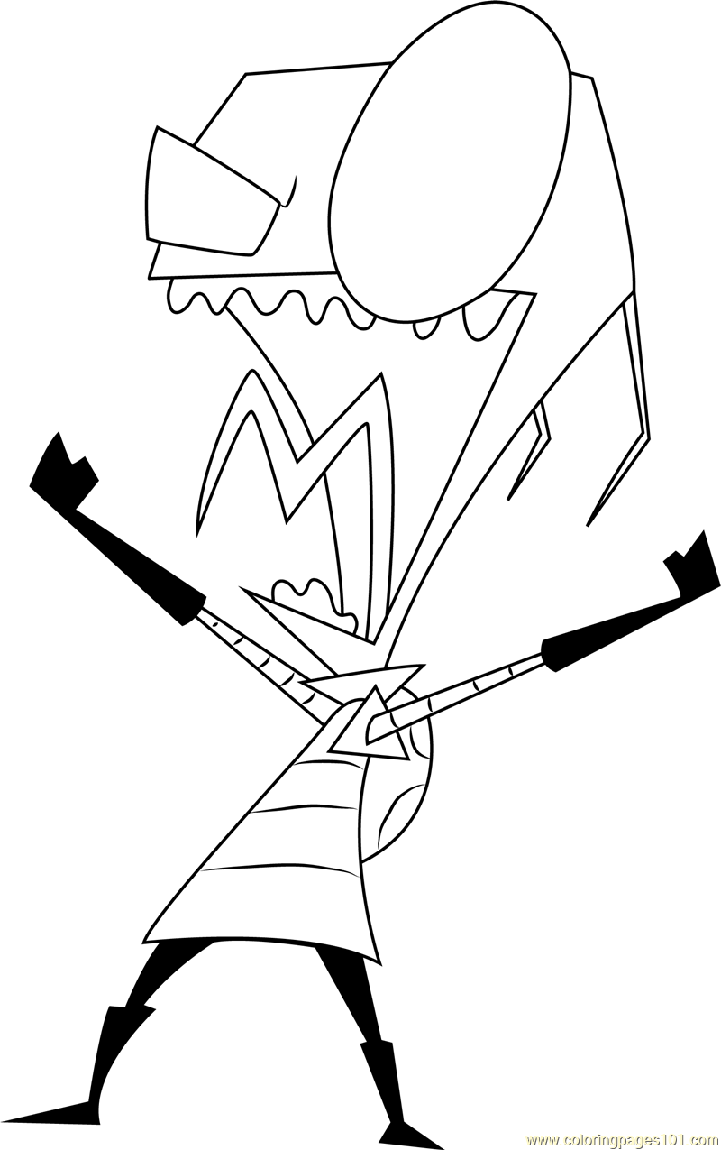 zim coloring pages - photo#29