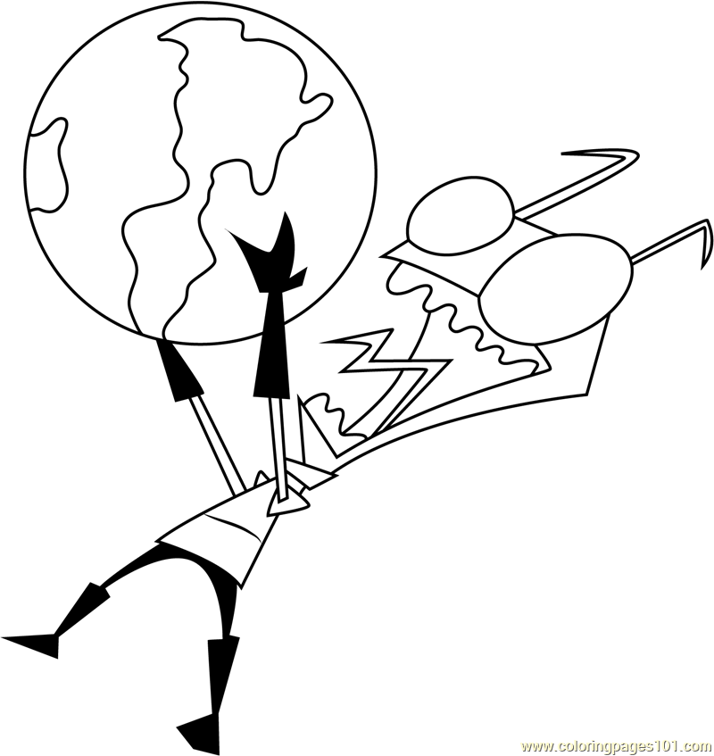 gir invader zim coloring pages - photo#35