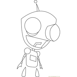 Gir Watching Free Coloring Page for Kids