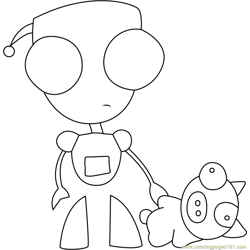 Gir with Bear coloring page