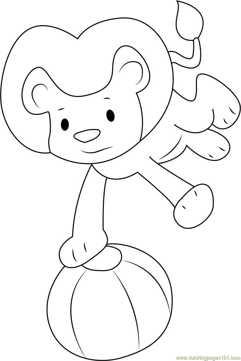 Goliath Play with Ball Coloring Page