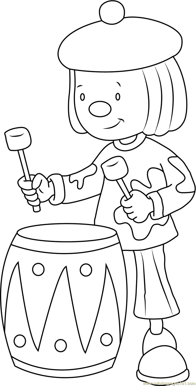 Jojo Play Drums Coloring Page Free Jojo S Circus Coloring