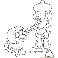 Cute Jojo and Goliath Free Coloring Page for Kids