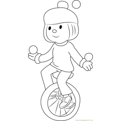 Jojo in Circus Free Coloring Page for Kids