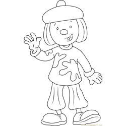 Jojo say Hi Free Coloring Page for Kids