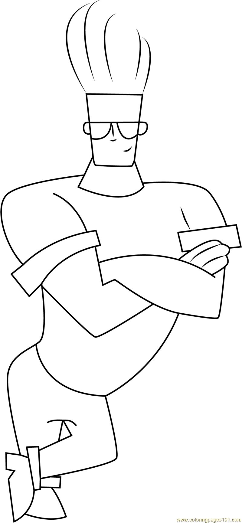 Cute Johnny Bravo Coloring Page Free Johnny Bravo