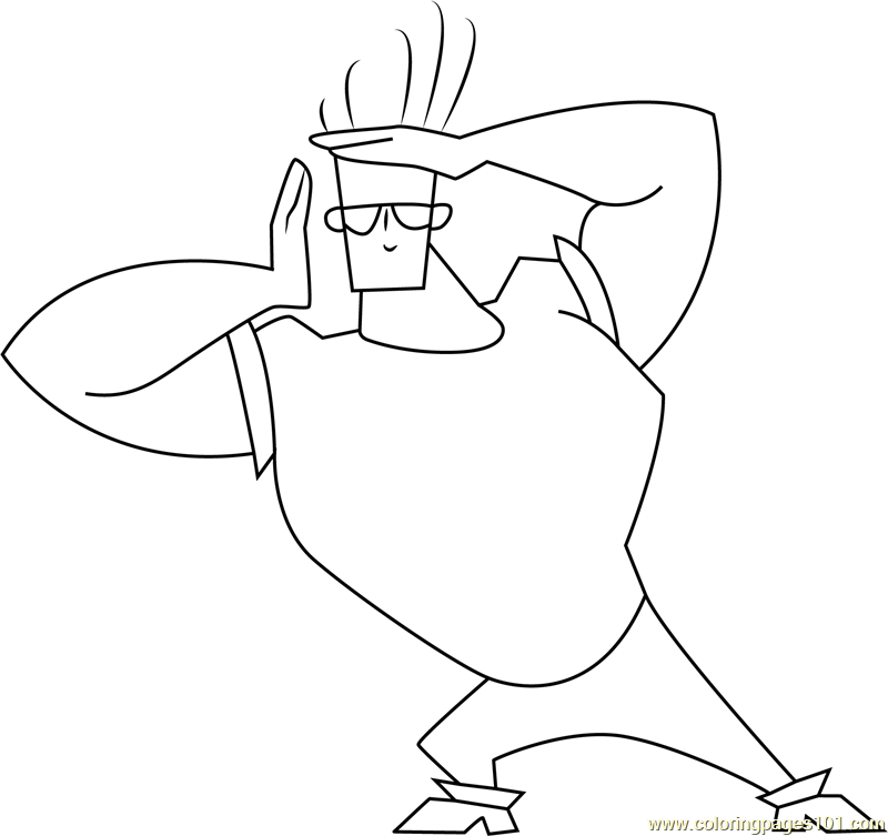 Johnny Bravo Coloring Pages