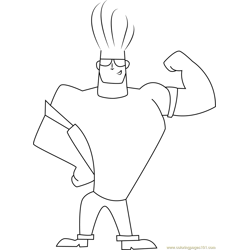 Johnny Bravo Show His Arm