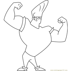 Johnny Bravo showing Body