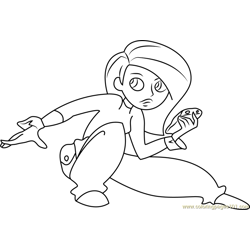 Kim Free Coloring Page for Kids