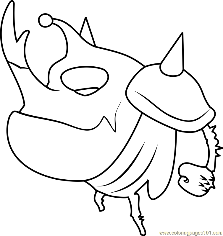 Black Coloring Page Free Larva Coloring Pages