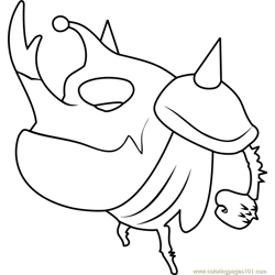 Larva Coloring Pages