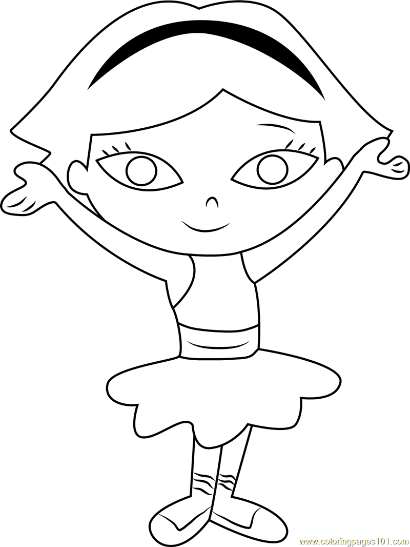 Little Einsteins June Coloring Page Free Little