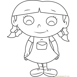 Little Einsteins Annie Free Coloring Page for Kids
