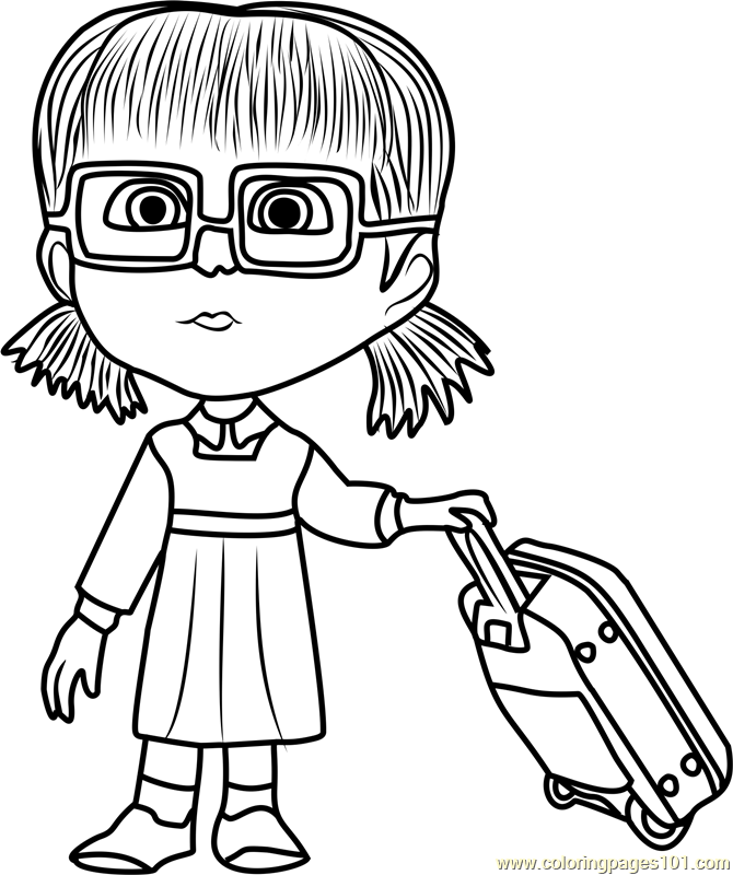 Animated Girl Coloring Pages
