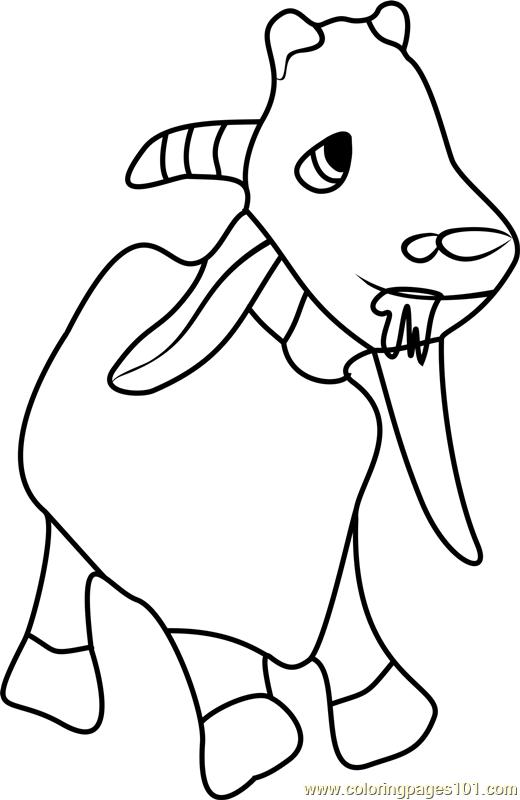 Goat Coloring Page Free Masha