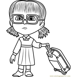 Dasha Free Coloring Page for Kids