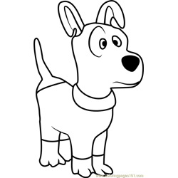Dog Free Coloring Page for Kids