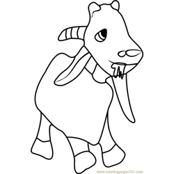 Goat Free Coloring Page for Kids