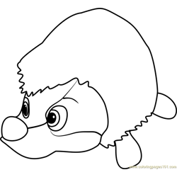 Hedgehog Free Coloring Page for Kids