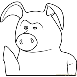Pig Free Coloring Page for Kids