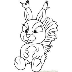 Squirrel Free Coloring Page for Kids