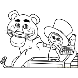 Tiger Free Coloring Page for Kids
