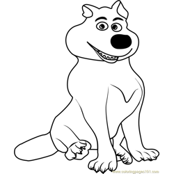 Wolf Free Coloring Page for Kids