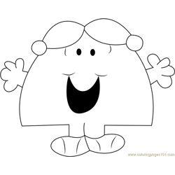 Little Miss Chatterbox Free Coloring Page for Kids
