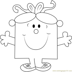 Miss Birthday Free Coloring Page for Kids